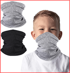 2 Packs Kids Face Cover Neck Gaiter for Cycling Hiking Sport Outdoor