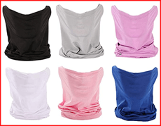 6 Pieces Sun UV Protection Face Mask Neck Gaiter Windproof Scarf Sunscreen