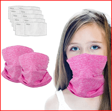 Kids Summer Protection Face Cover with Filter
