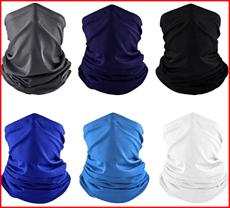 Mornex 6Pcs Neck Gaiter Magic Bandanas Scarf Elastic Balaclava Face Covering